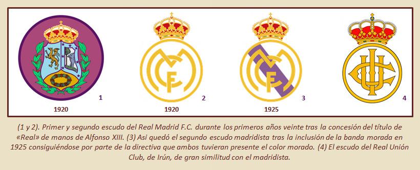 HF Los escudos del Real Madrid CF 17