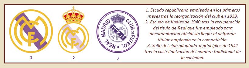 HF Los escudos del Real Madrid CF 25