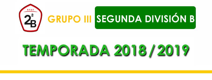 titular Segunda B Grupo 3 2018-2019