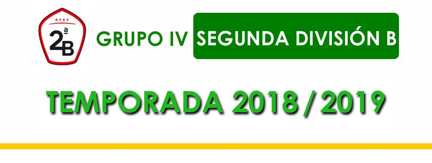 titular Segunda B Grupo 4 2018-2019