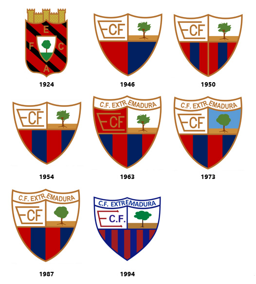 Escudos CF Extremadura